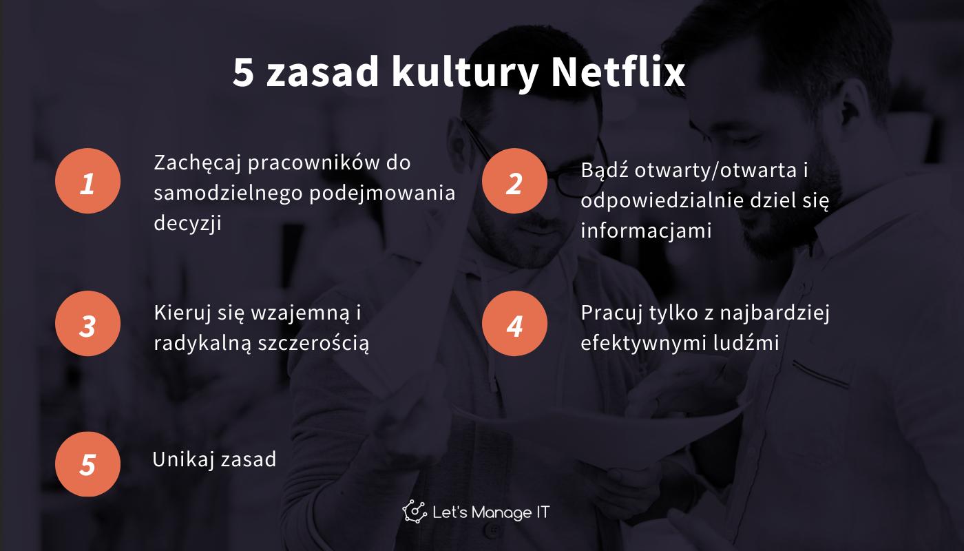 5 zasad kultury pracy Netflix Patty McCord