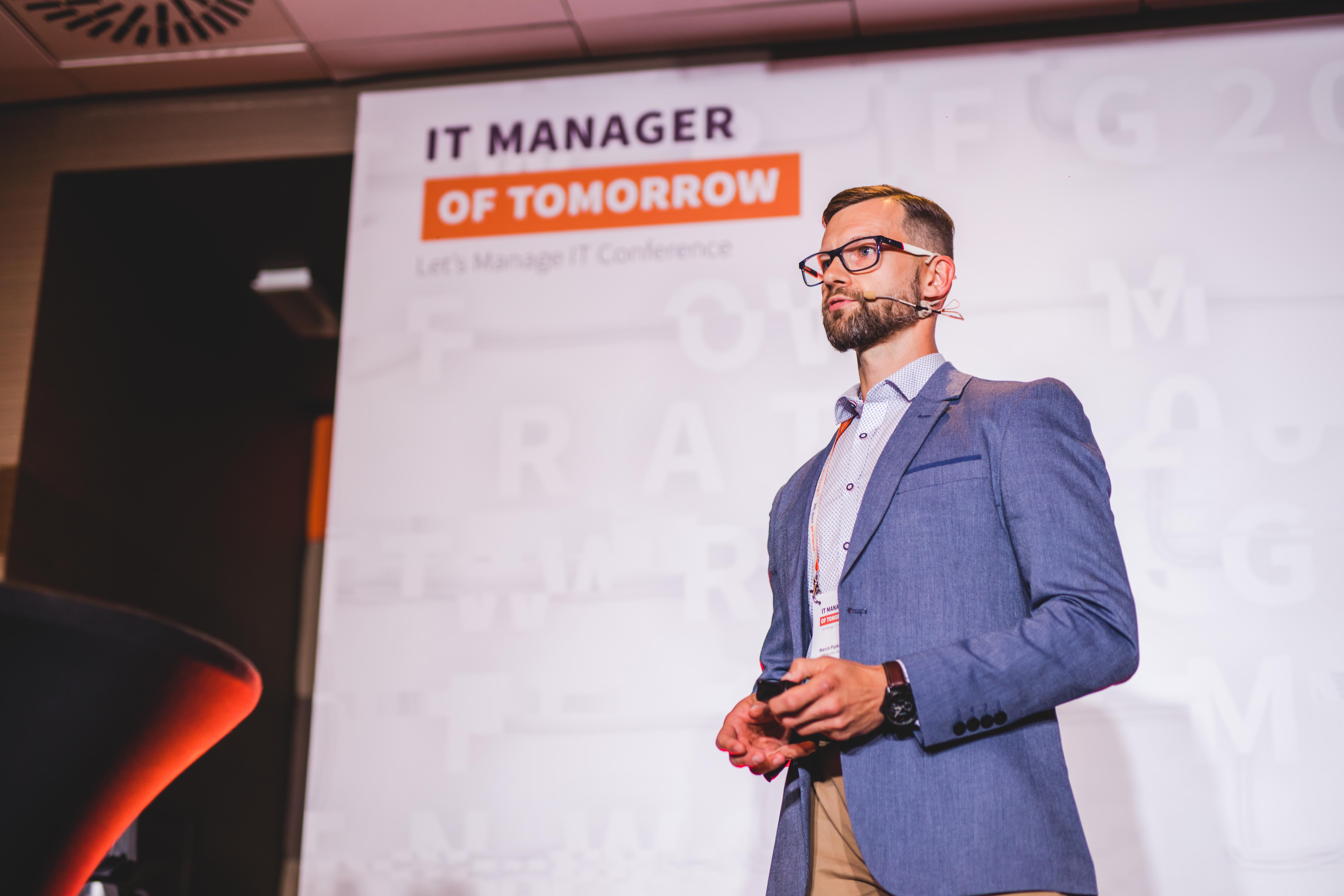 I am speaker at IT Manager of Tomorrow 2021 - Marcin Piątkowski